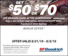 BFGoodrich rebate offer